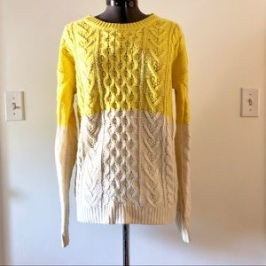 Colorblock Chunky Knit Sweater